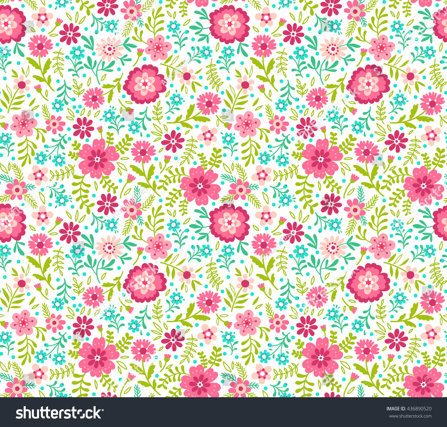 Cute pattern in small flower small pink and blue flowers white id 436890520 izmirmasajfo