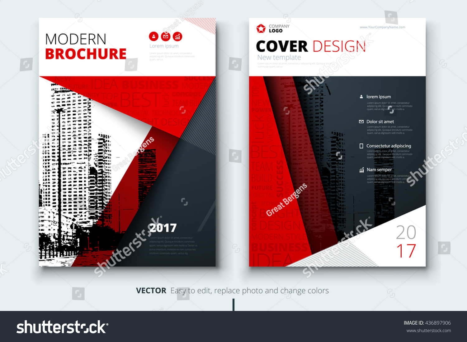 red cover design brochure creative poster stock vector 436897906 red cover design for brochure creative poster booklet leaflet or flyer concept