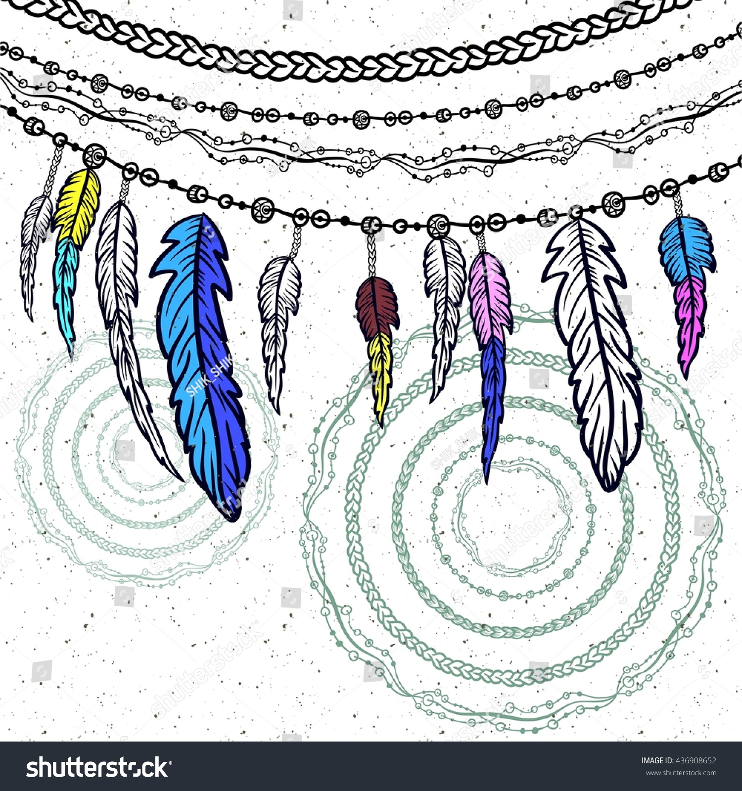 Hand Drawn Clip Art Native American Stock Vector 436908652 ...