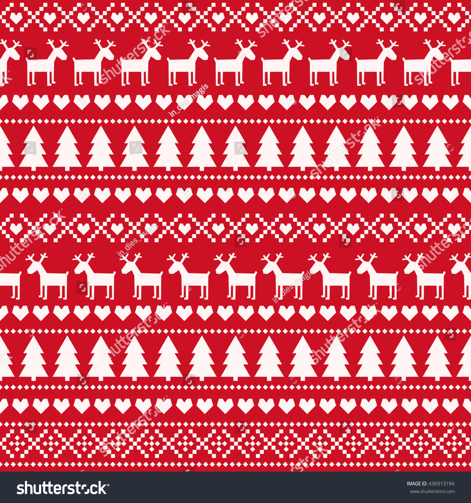 Seamless fir tree scandinavian pattern textile background wrapping - Christmas Seamless Pattern Card Scandinavian Sweater Style Cute Christmas Background Xmas Trees