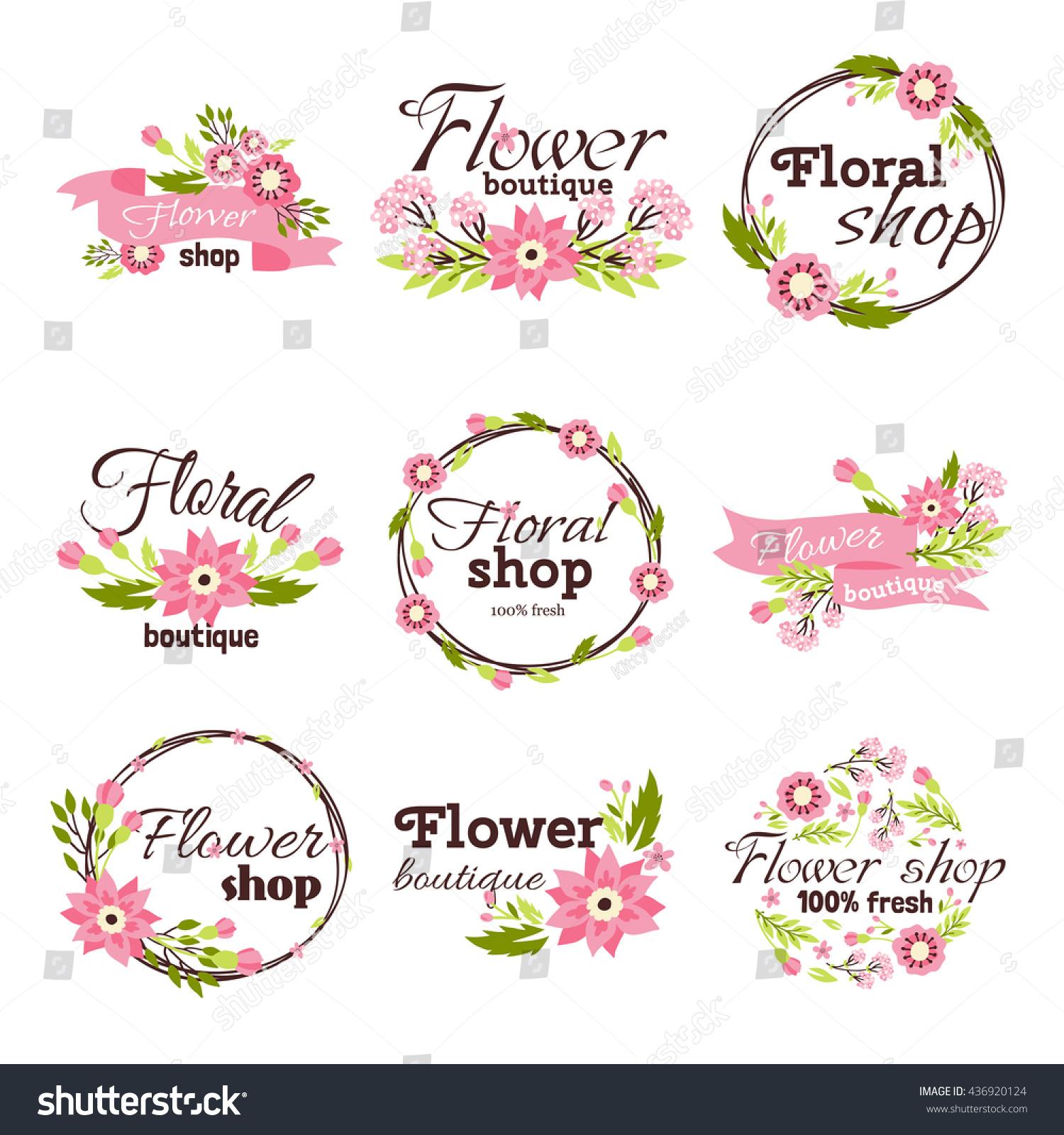 bright logo flower shop stock vector hd royalty free 436920124