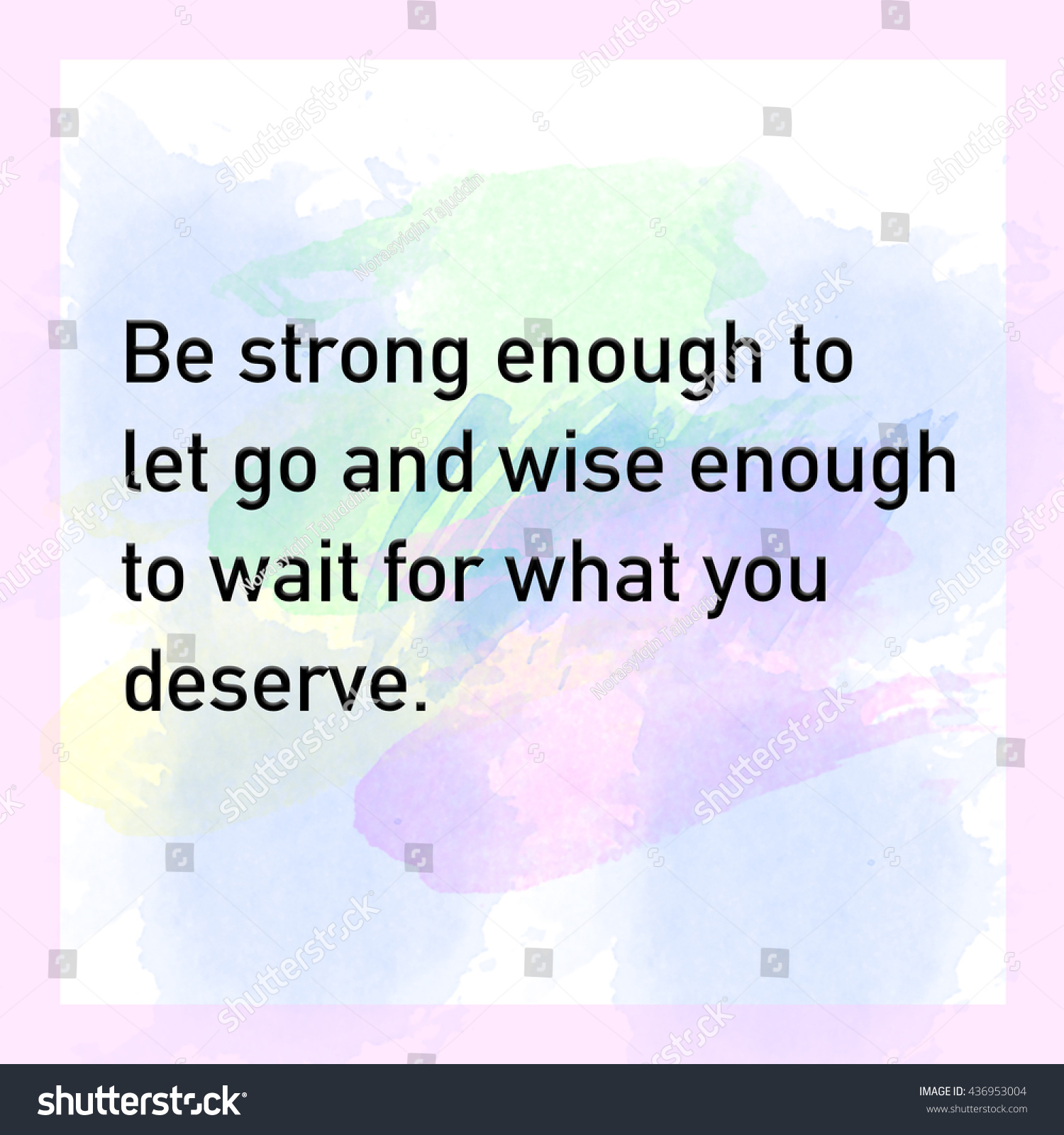 Strong Life Quote Inspirational Life Quote Phrase Be Strong Stock Illustration