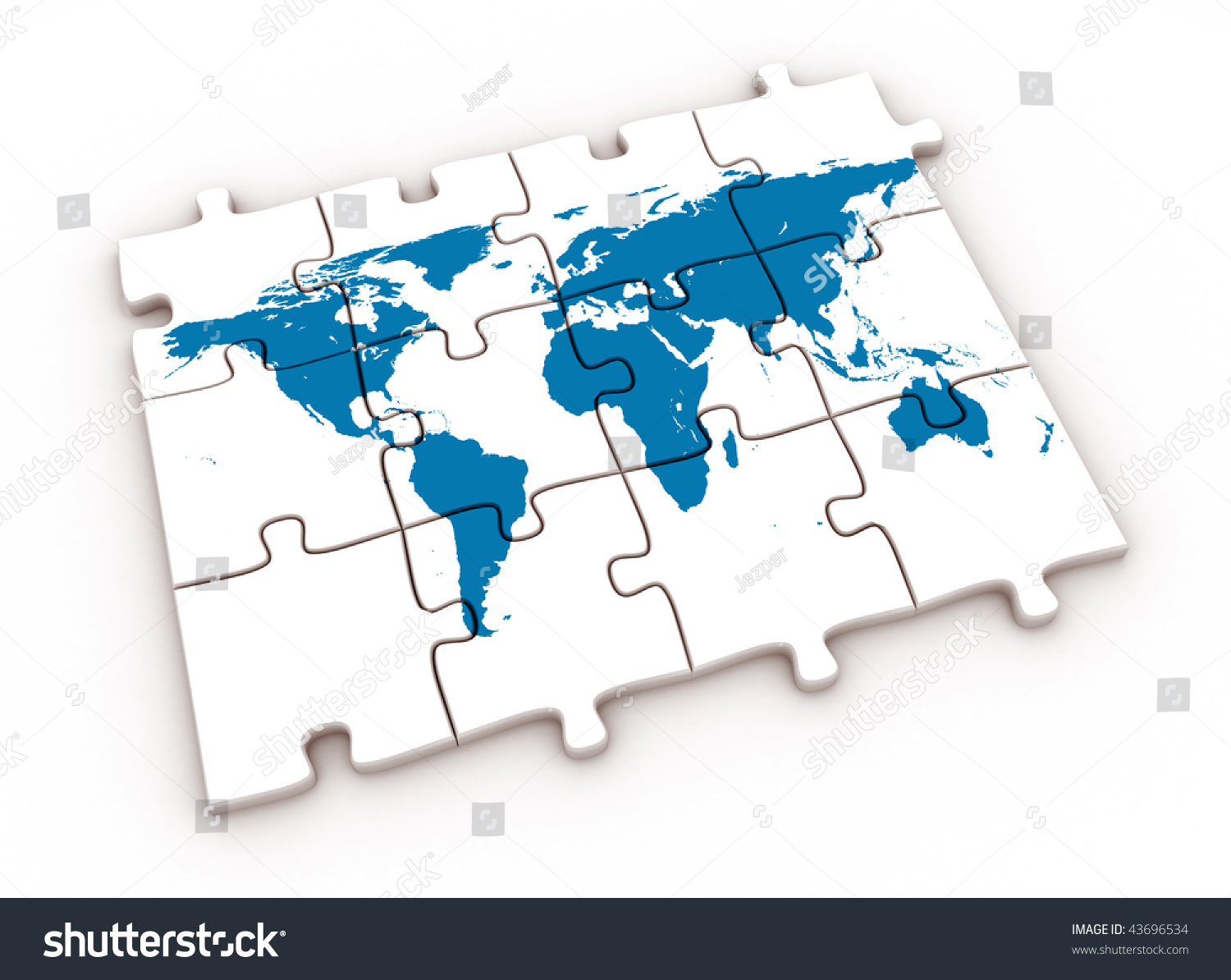 Puzzle World Map Photo 43696534 Shutterstock – Map World Puzzle