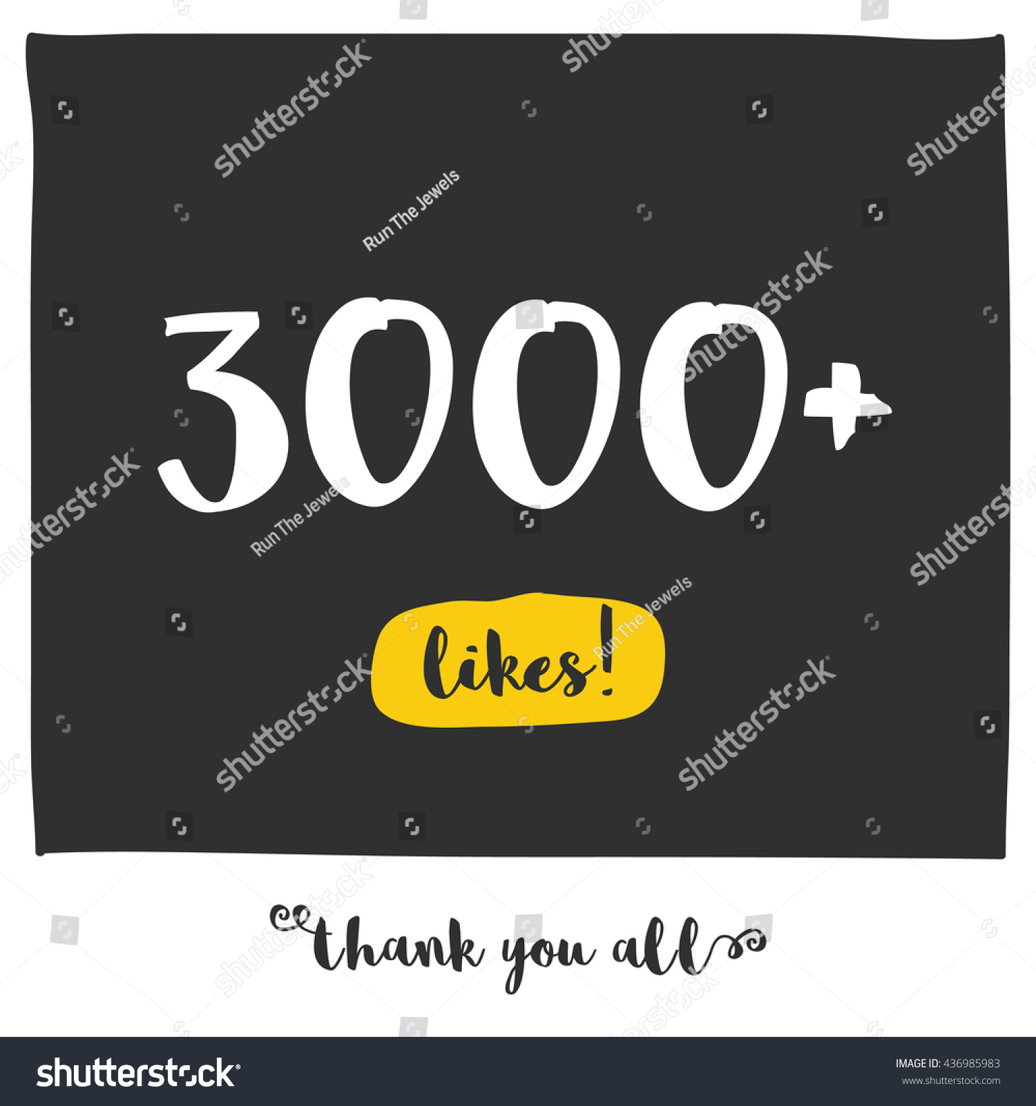 Thank You All 3000 Likes Vector Stock Vector (Royalty Free ...