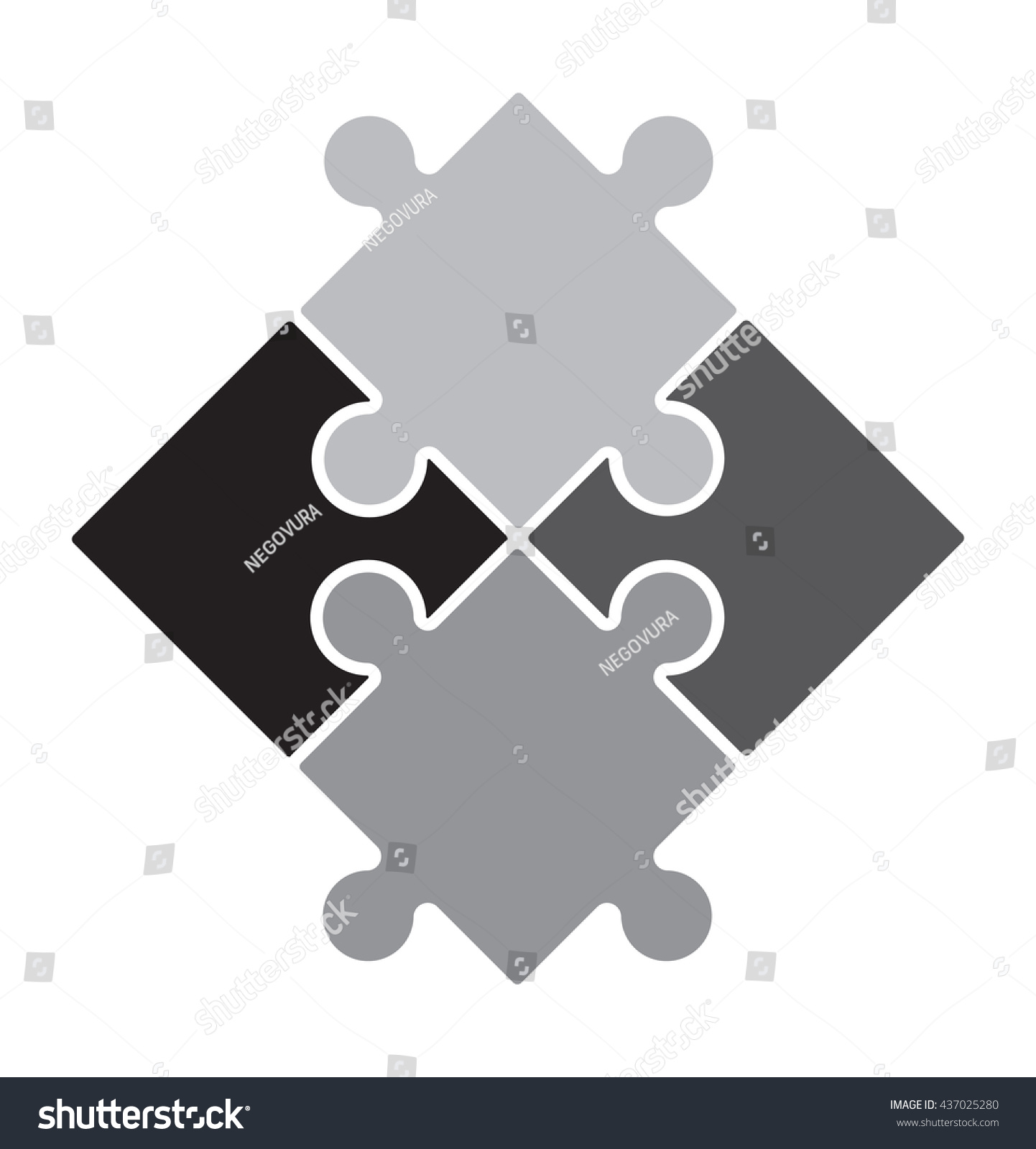 Puzzle Vector Icon Stock Vector 437025280 - Shutterstock