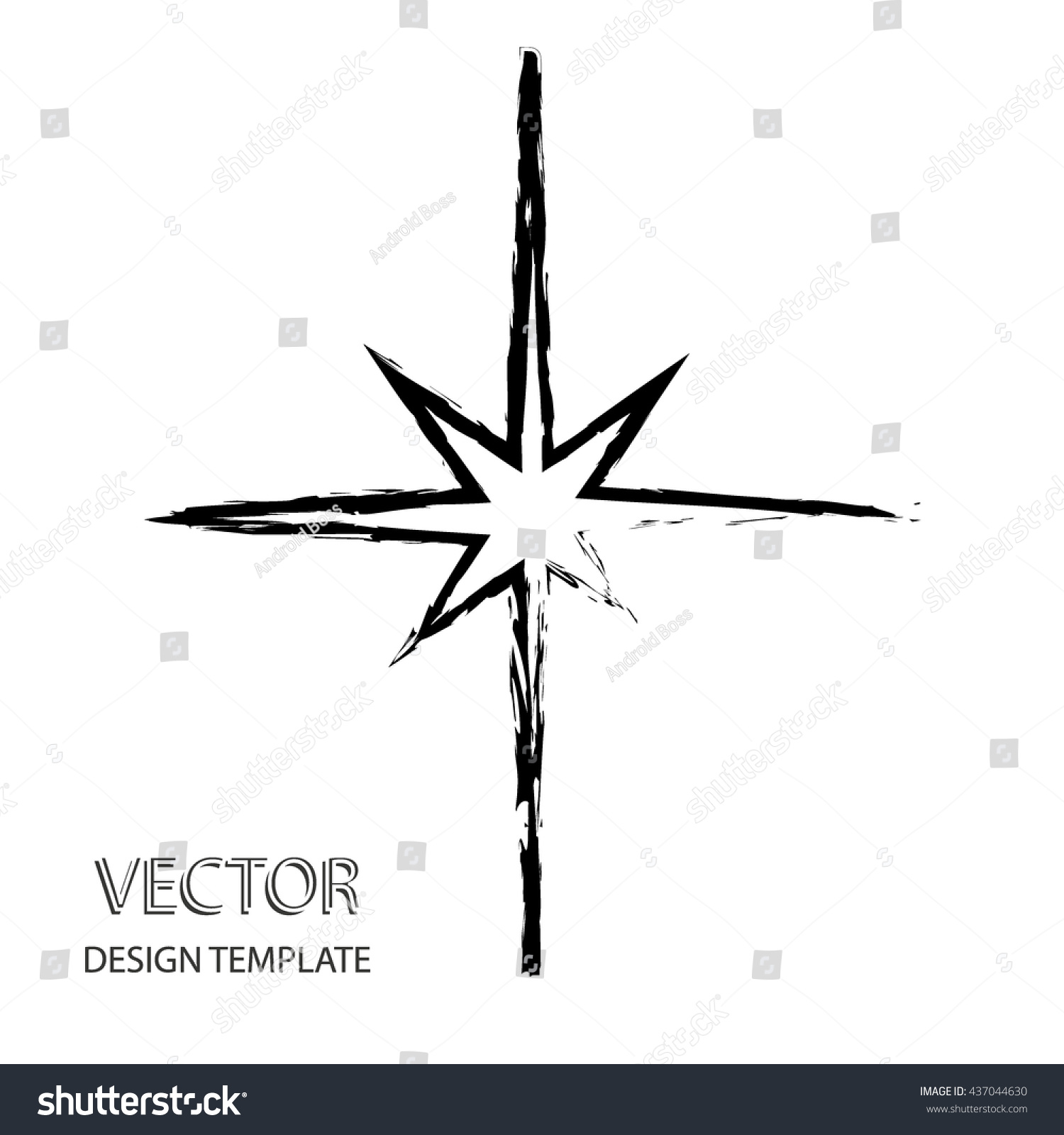 Vector Star Retro Star Star Background Stock Vector Royalty Free