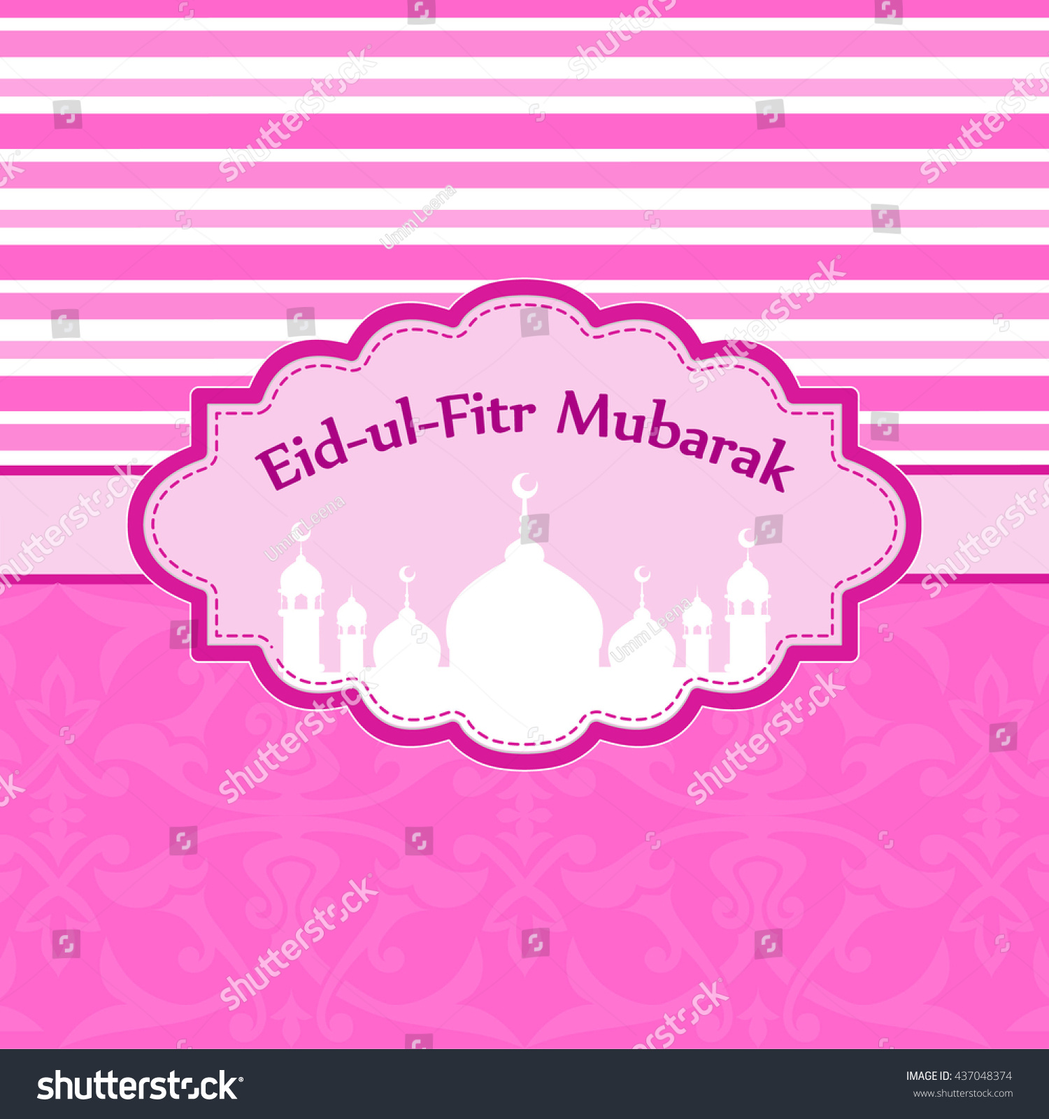 Amazing Hajj Eid Al-Fitr Decorations - stock-vector-sticker-or-label-design-for-eid-al-fitr-celebration-design-decorated-frame-with-mosque-for-month-437048374  Graphic_842341 .jpg