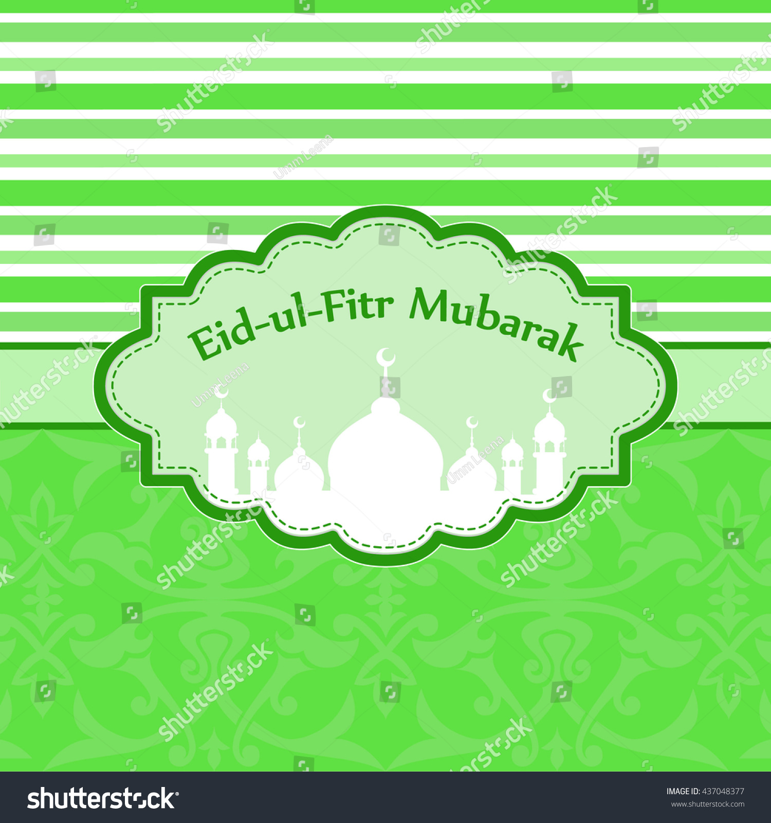 Amazing Hajj Eid Al-Fitr Decorations - stock-vector-sticker-or-label-design-for-eid-al-fitr-celebration-design-decorated-frame-with-mosque-for-month-437048377  Pic_96336 .jpg