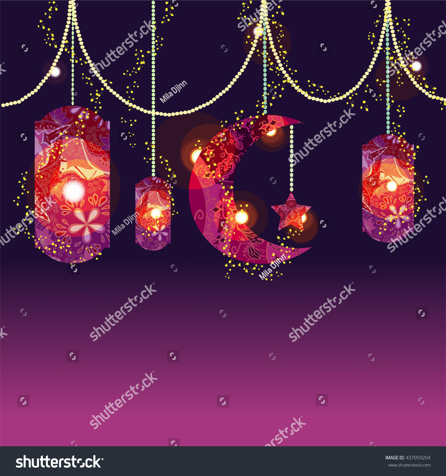 Simple Eid Mubarak Eid Al-Fitr Decorations - stock-vector-muslim-festival-eid-al-fitr-eid-mubarak-and-ramadan-concept-with-decorated-moon-and-star-vector-437059204  Image_27219 .jpg