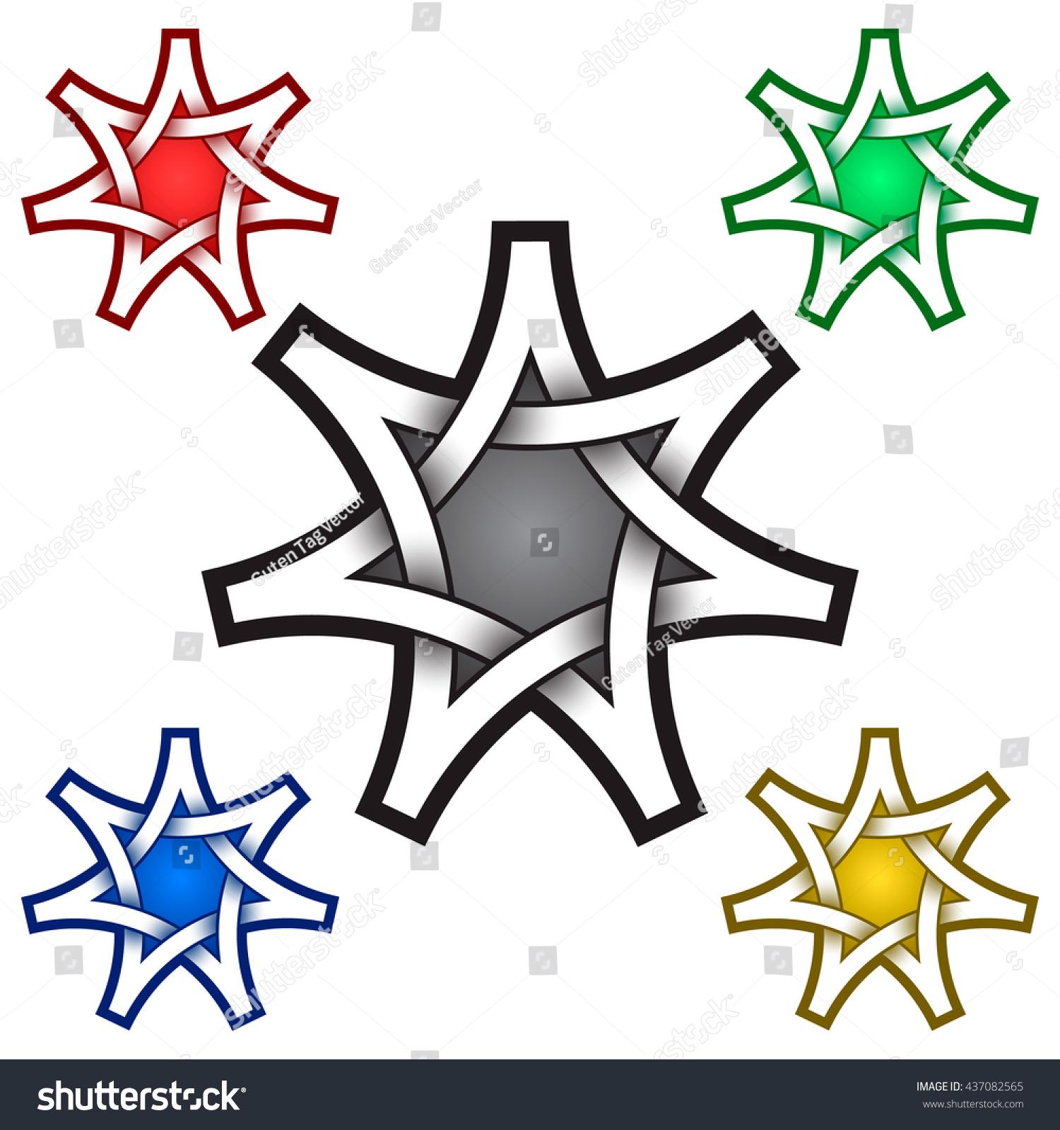 Seven Pointed Star Logo Template Celtic Stock Vector 437082565 ...