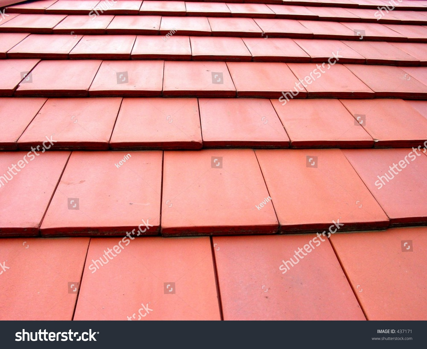 Flat Tile Roof Stock Photo 437171 Shutterstock