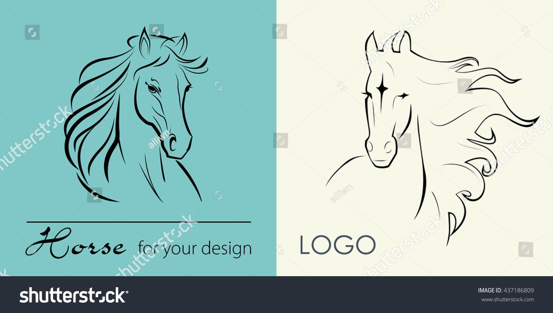 Vector logo head horse mane symbol stock vector 437186809 vector logo head horse with mane symbol sign icon buycottarizona
