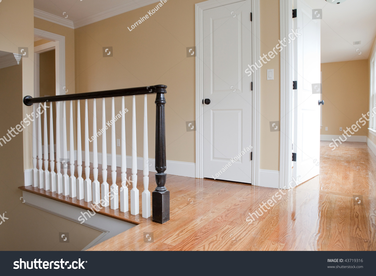 Empty Staircase Landing Detail Stock Photo 43719316 Shutterstock