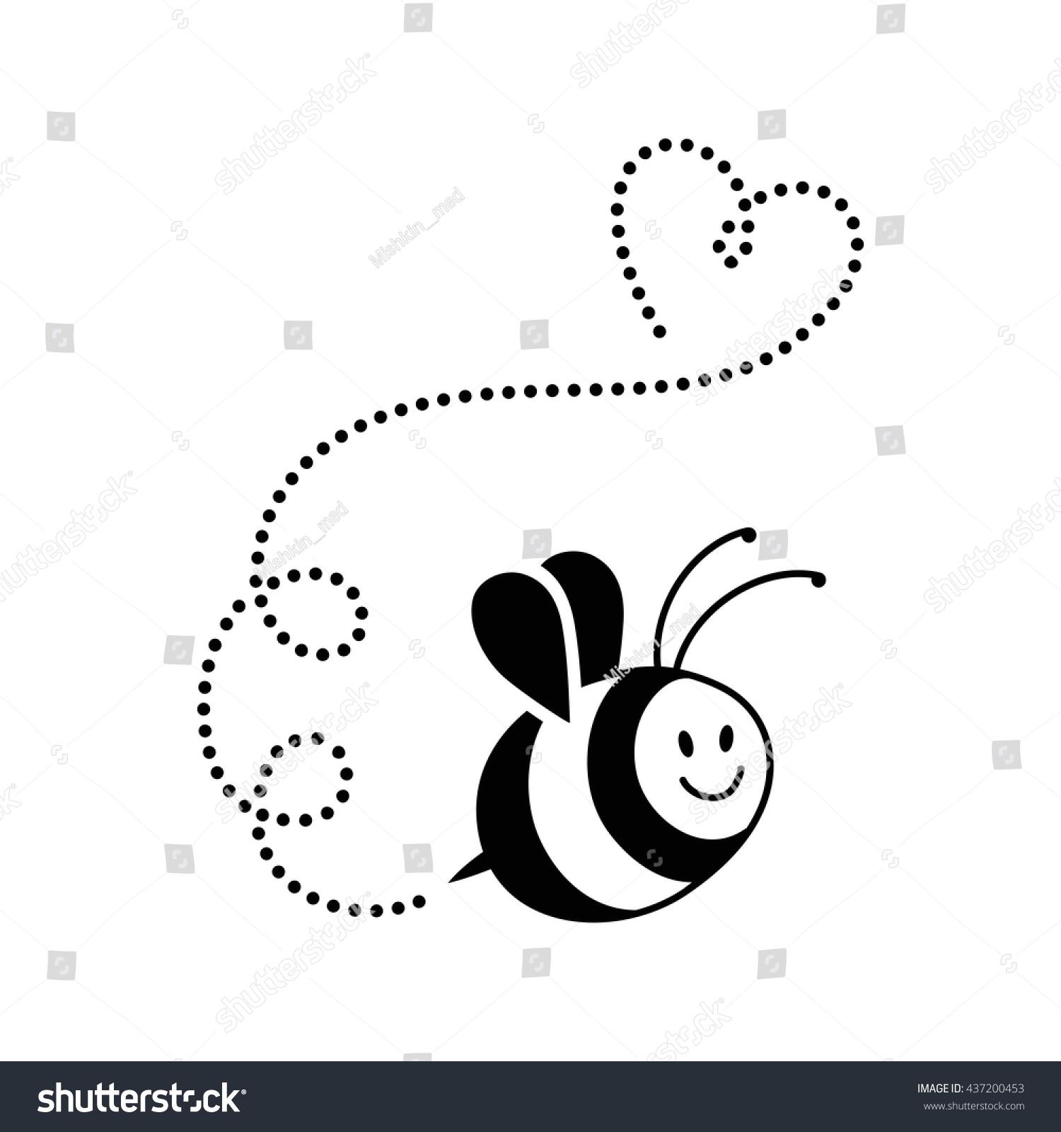 Bee Vector Logo Black Isolated Icon Stock Vector Royalty Free