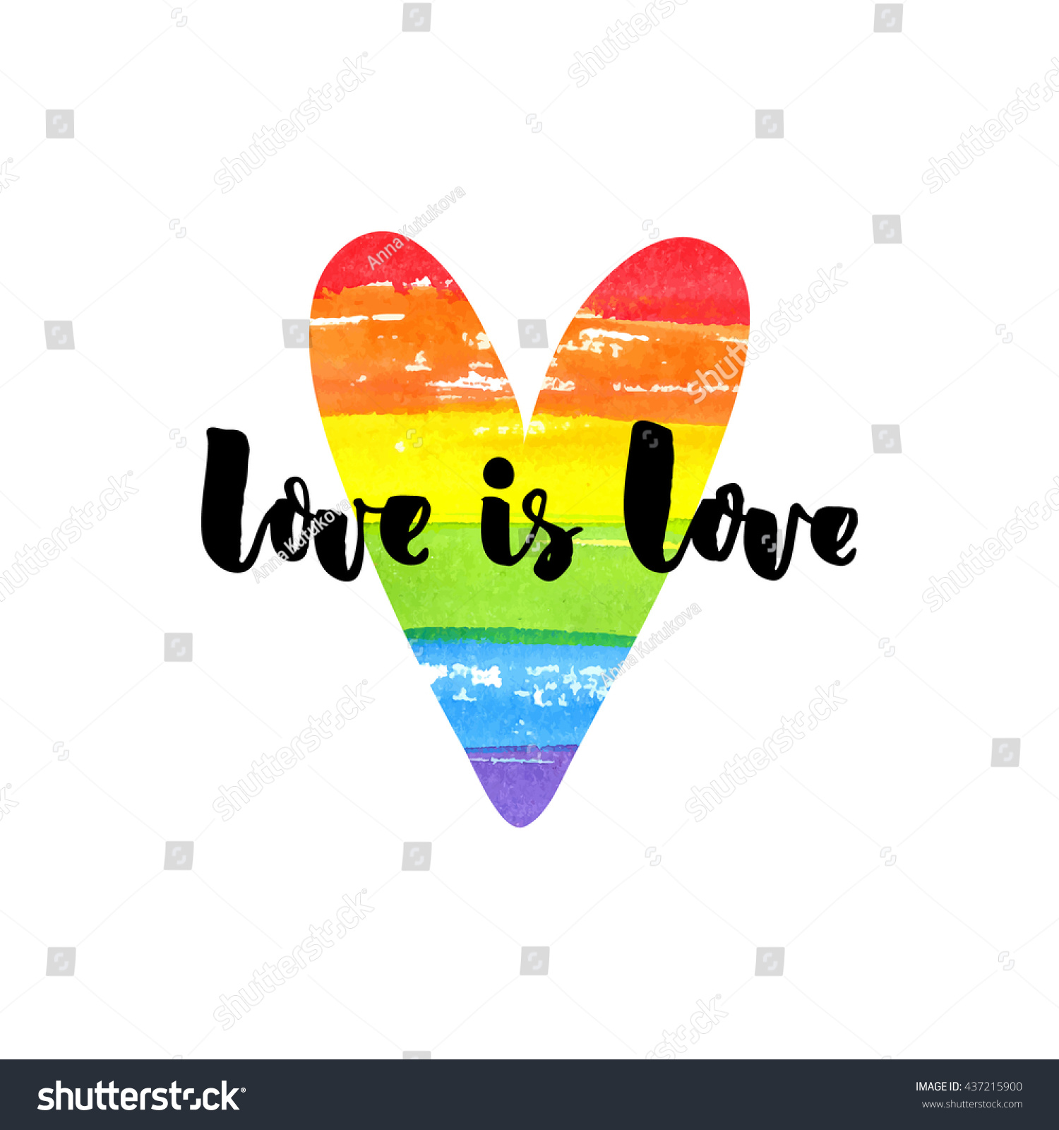 Gay Love Quotes Love Love Inspirational Quote On Rainbow Stock Vector 437215900