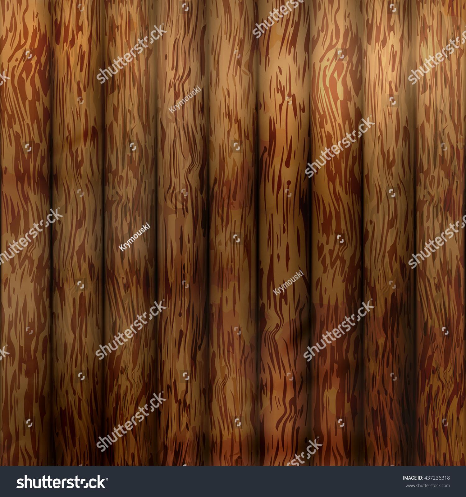 Wood Plank Texture Background Vector Illustration Stock Vector