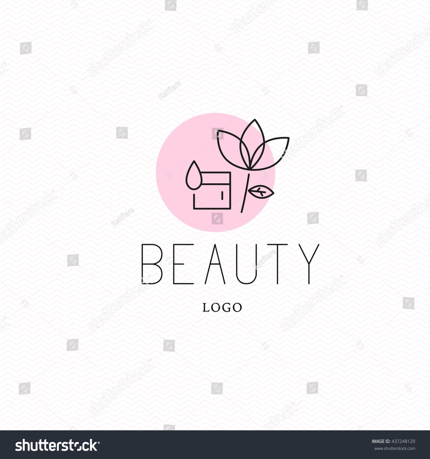 vector cosmetic logo design template beauty stock vector