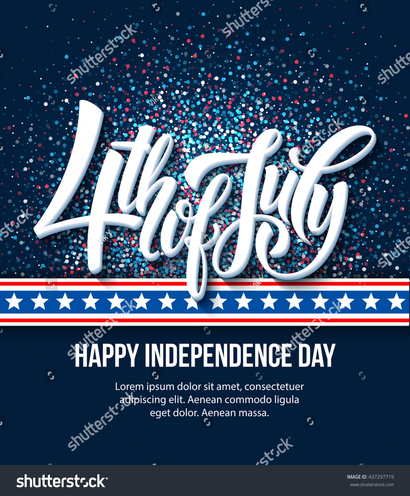 American independence day lettering design template stock vector american independence day lettering design a template background for greeting cards posters leaflets kristyandbryce Images