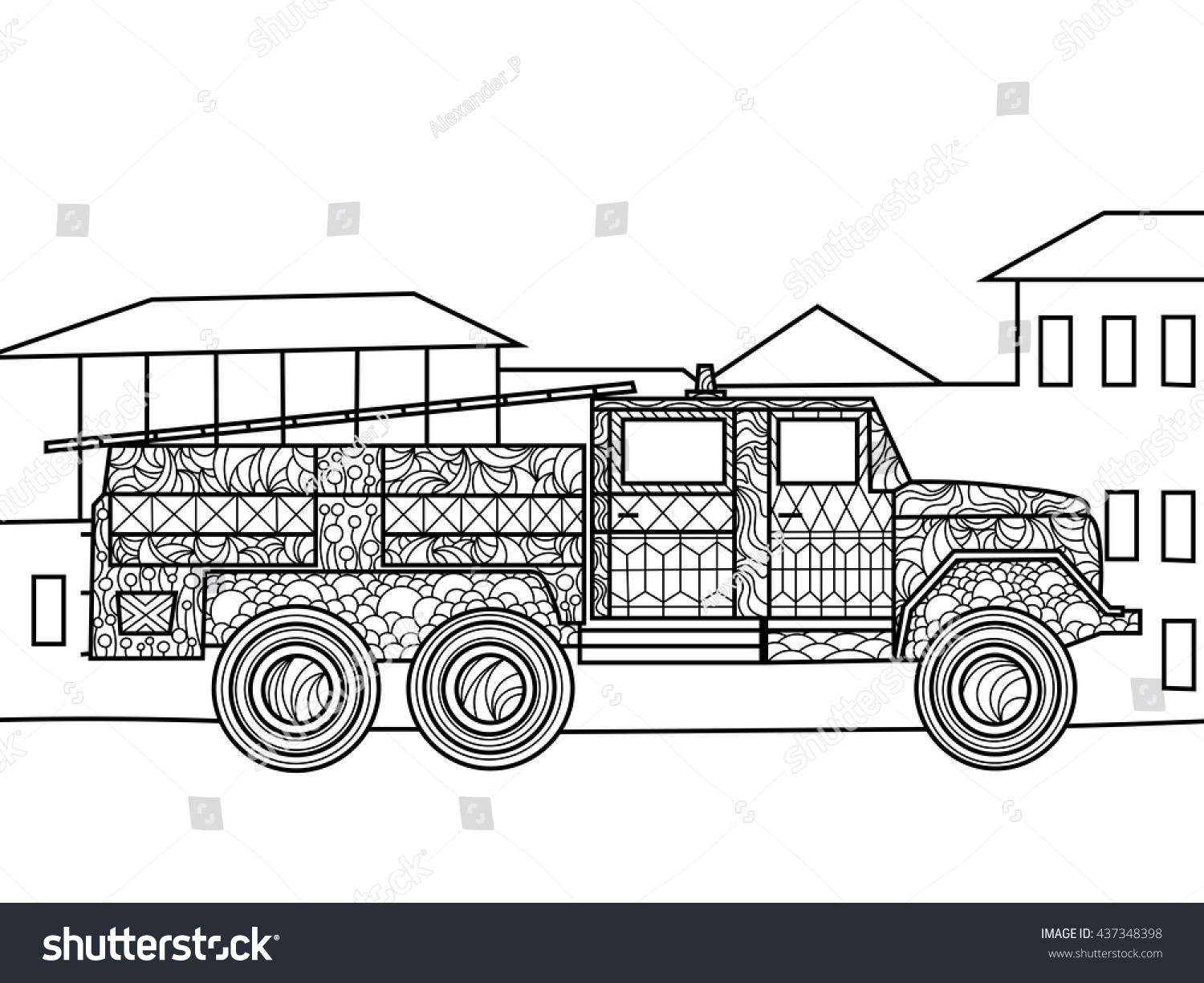 Garbage truck coloring book - Grimy Garbage Truck Coloring Page Garbage Trucks Free