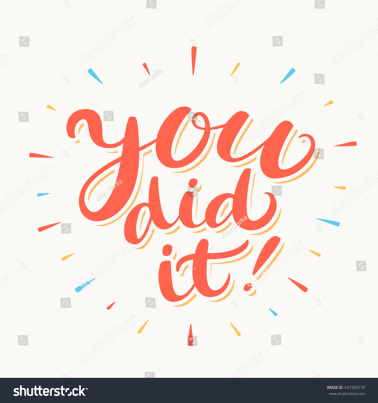 You Did It Congratulations Card Stock Vector 437360170