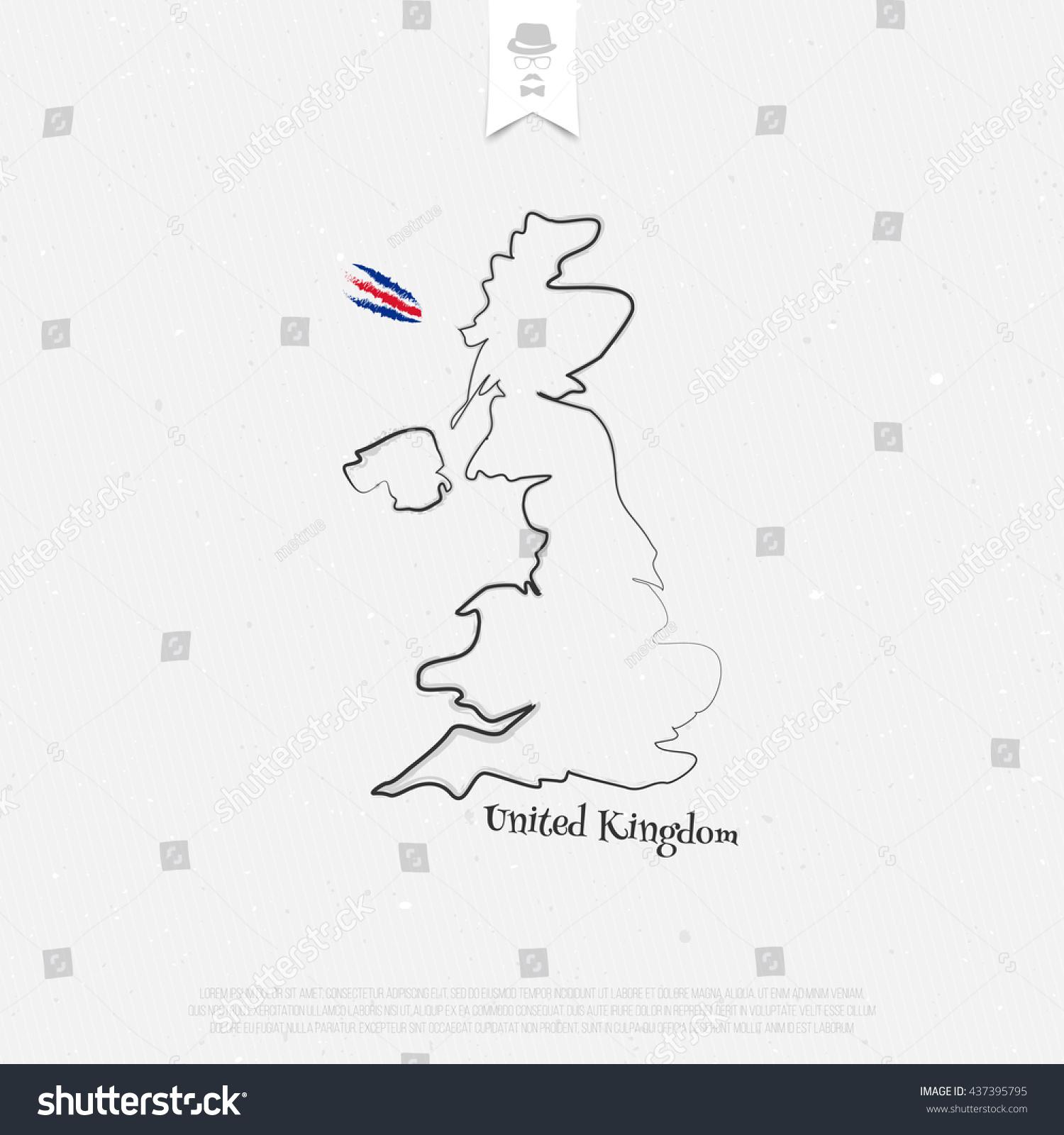 united kingdom great britain northern ireland stock vector