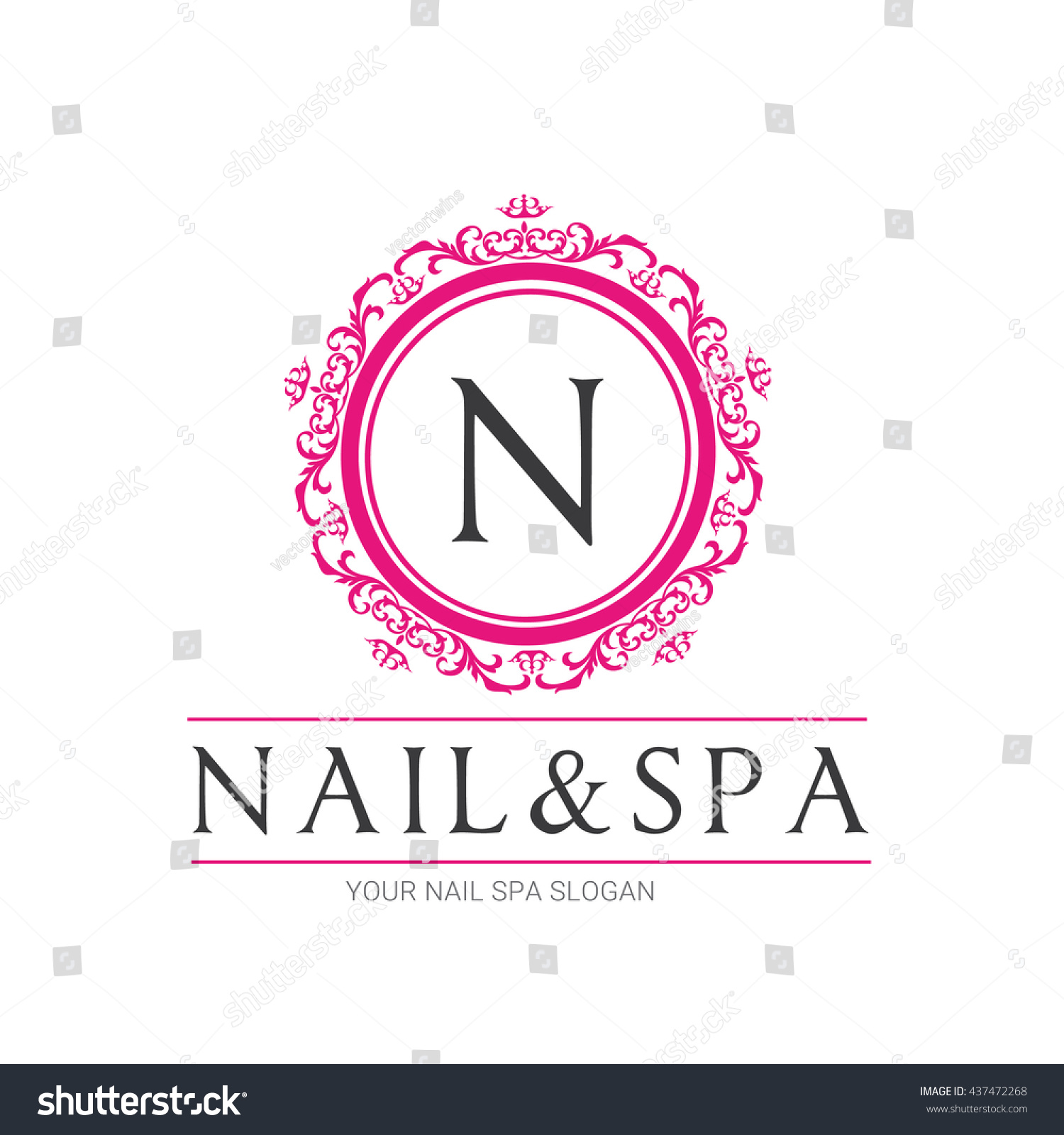 nail salon logo templates the image kid