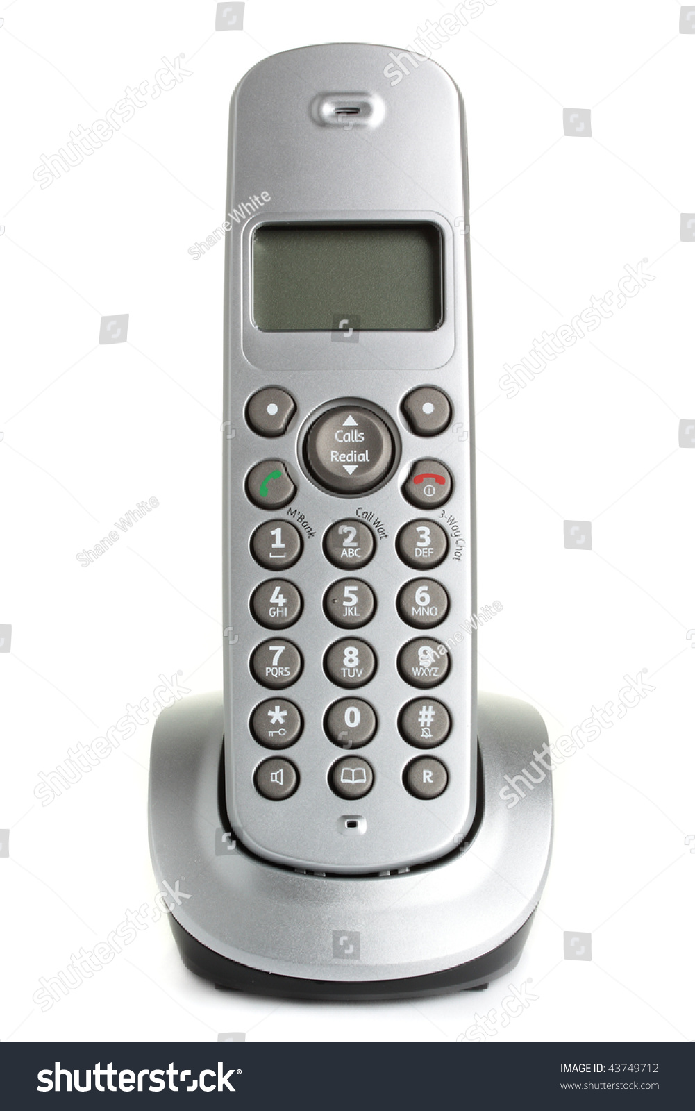 Modern Cordless Home Phone Isolated On Stock Photo (Edit Now ...