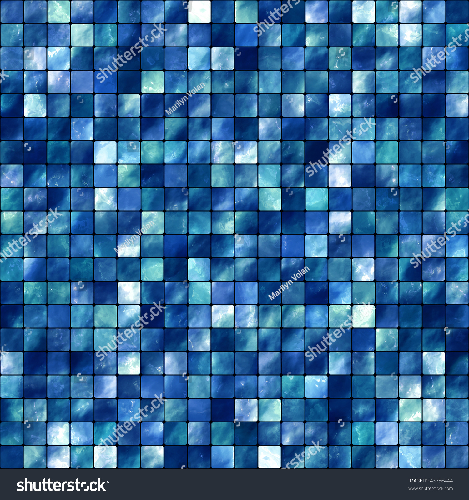 blue tiles. Seamless Blue Tiles Background