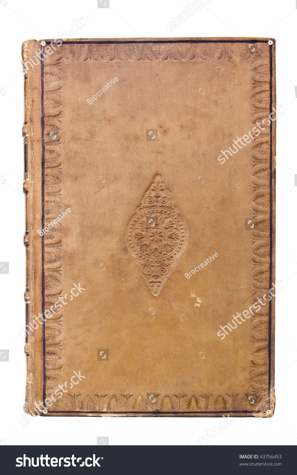 Book Cover Stock Images : Antique leather book cover stock photo shutterstock