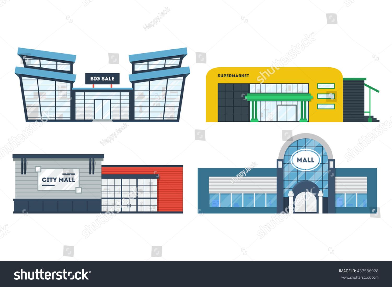 cartoon supermarket building wwwpixsharkcom images