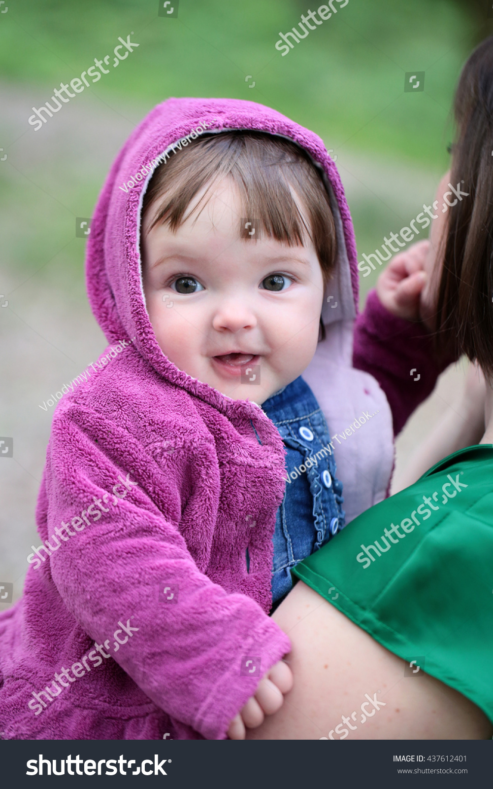 small cute baby girl pretty smiling stock photo edit now 437612401