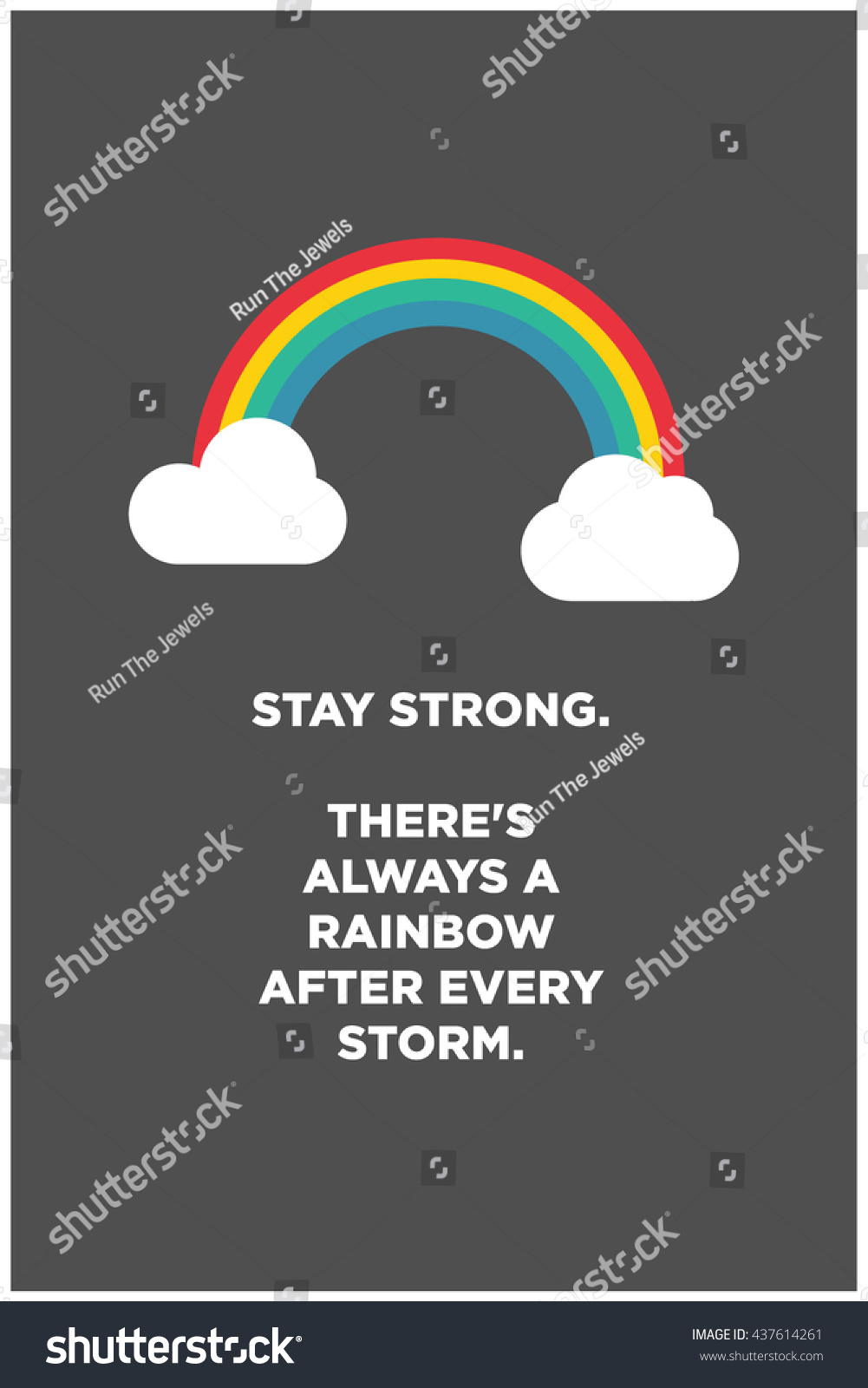 Stay Strong Theres Always Rainbow After Stock Vector Royalty Free