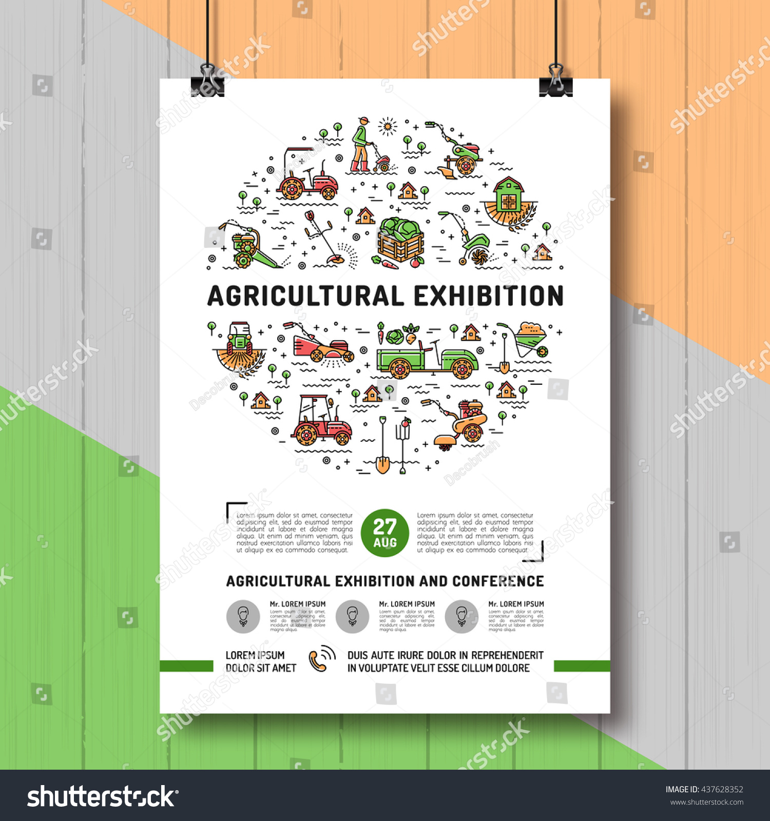 agricultural exhibition design poster card template stock vector agricultural exhibition design poster or card template mock up flyer banner vector