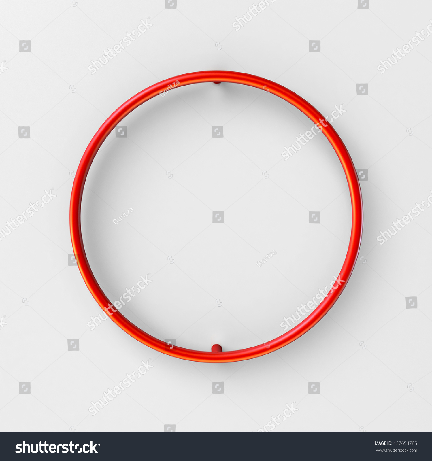3d realistic RED Wire Font with soft shadows. Letter O. 3d rendering  isolated on