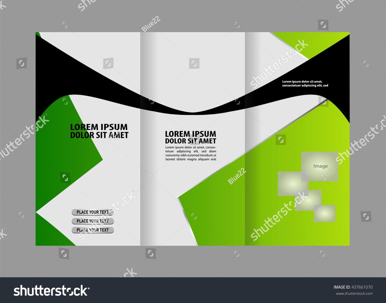 vector modern tri fold brochure design template ez canvas