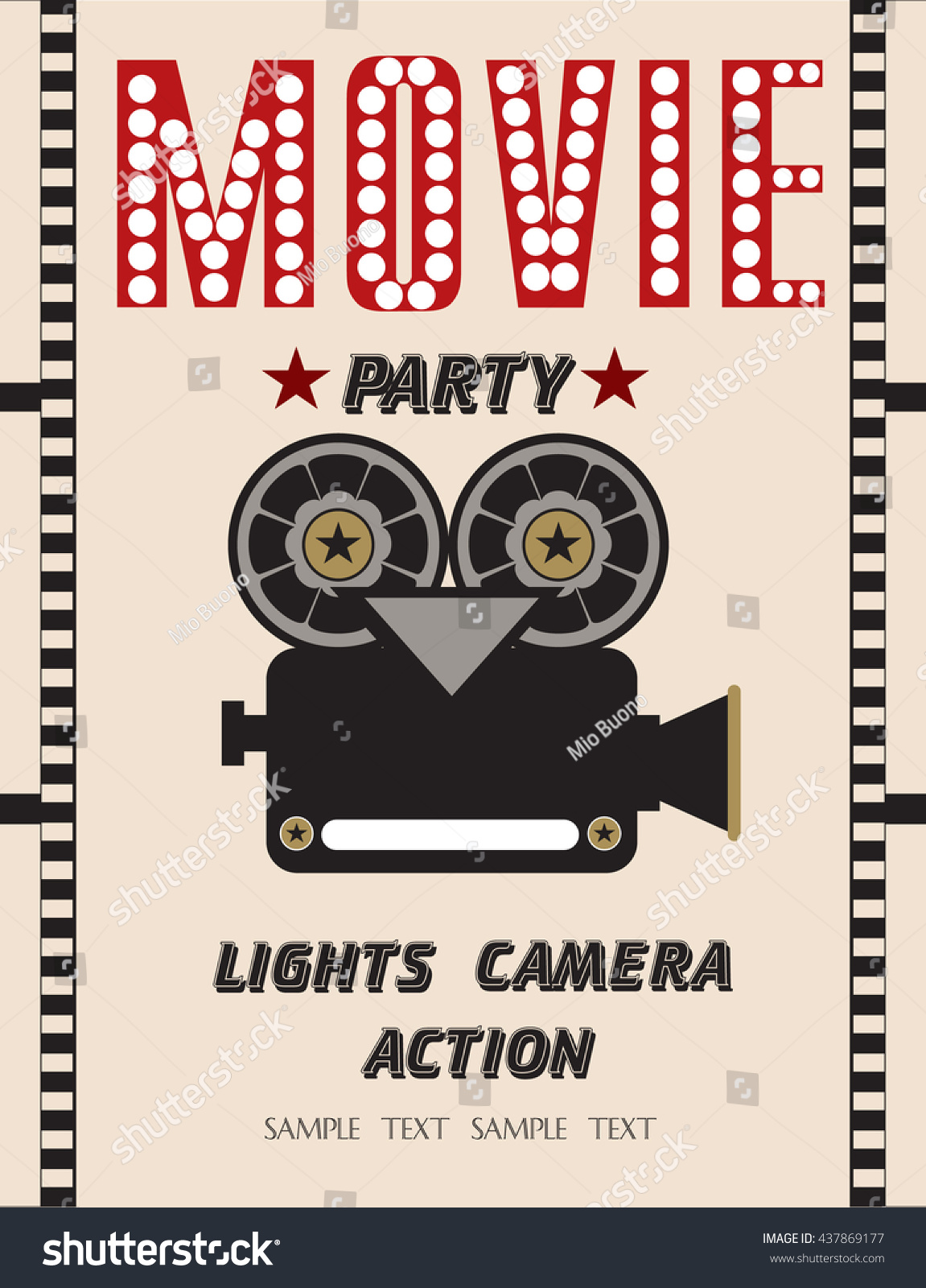 Movie party hollywood party invitation card stock vector 437869177 movie party hollywood party invitation card stock vector 437869177 shutterstock stopboris Gallery