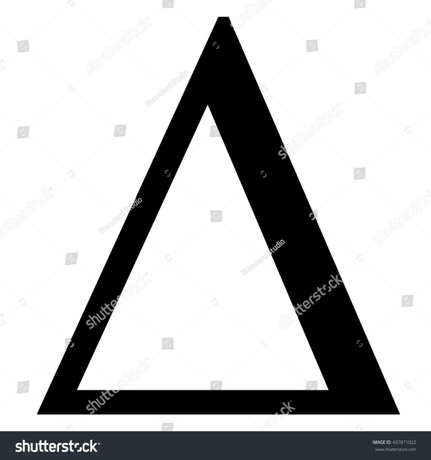 Delta greek letter icon delta symbol stock vector 437871022 delta greek letter icon delta symbol vector illustration biocorpaavc Choice Image