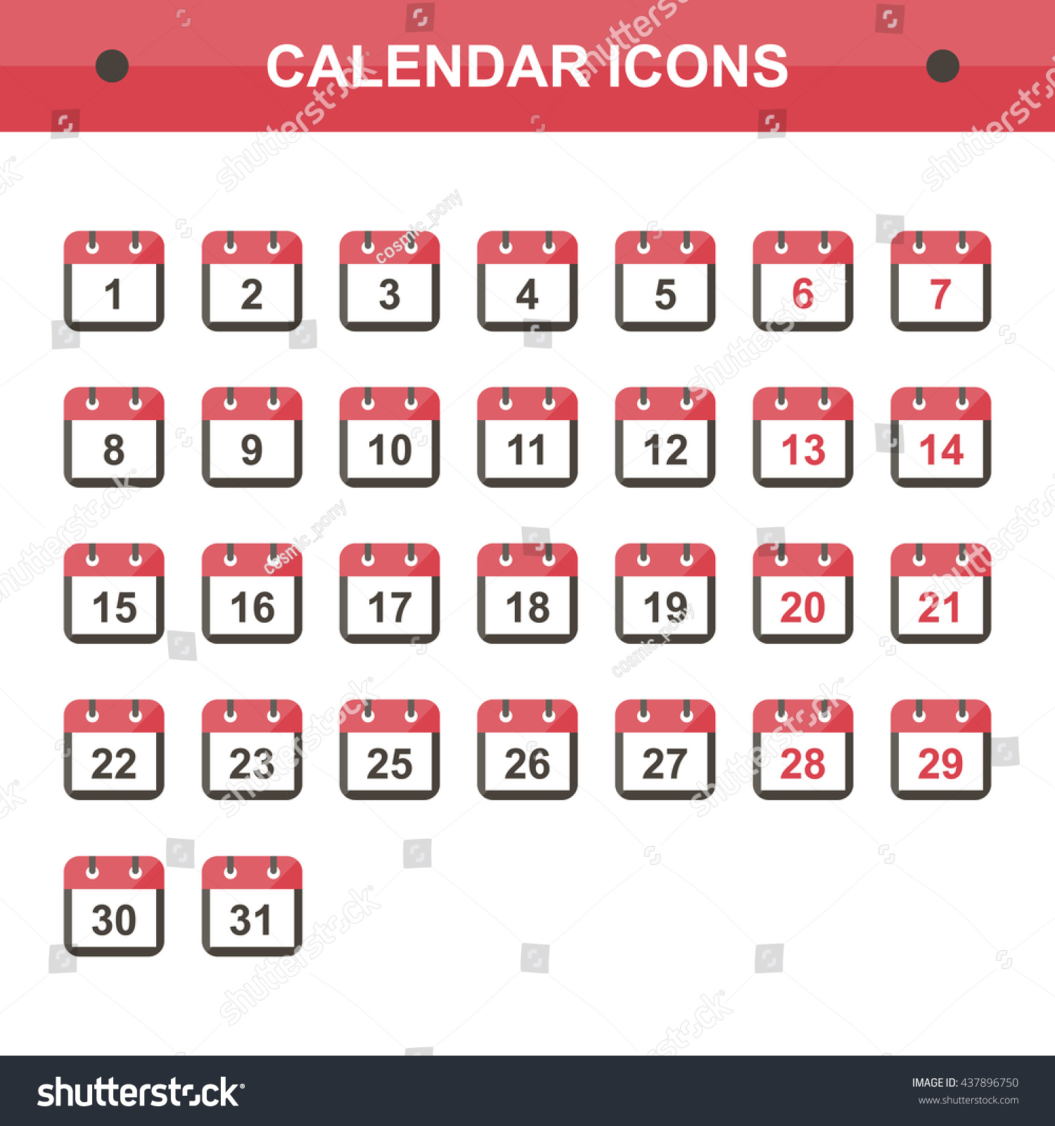 Flat design calendar icon set isolated stock vector 437896750 flat design calendar icon set isolated on white background vector calendar icons signs buycottarizona