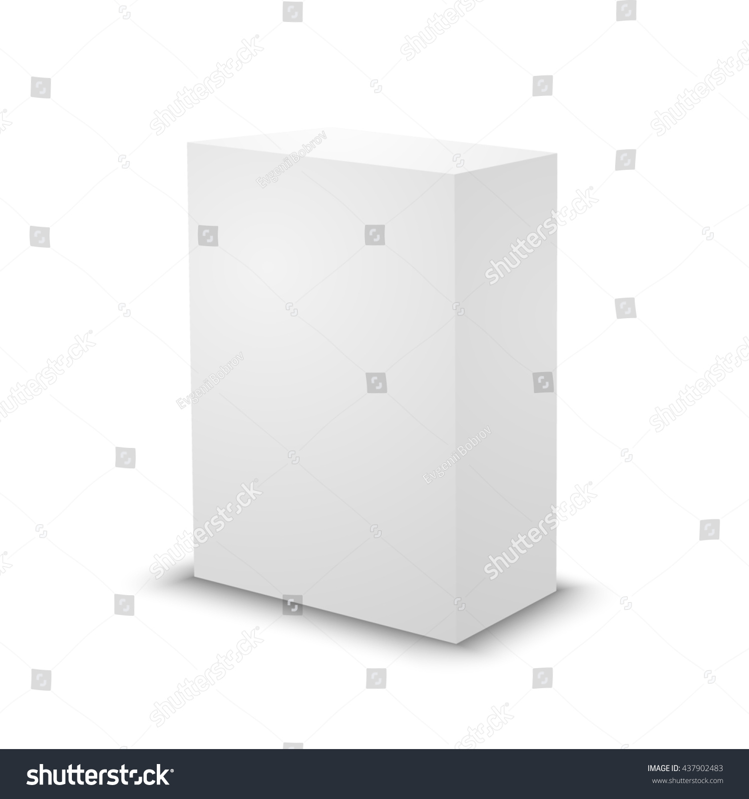 Blank White Prism On White Background Stock Illustration 437902483