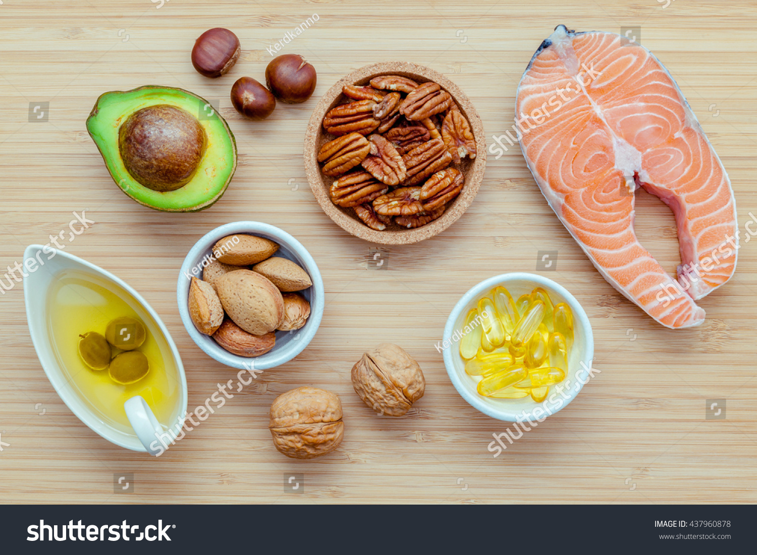 Selection food sources omega 3 unsaturated stock photo for Fish oils are a good dietary source of