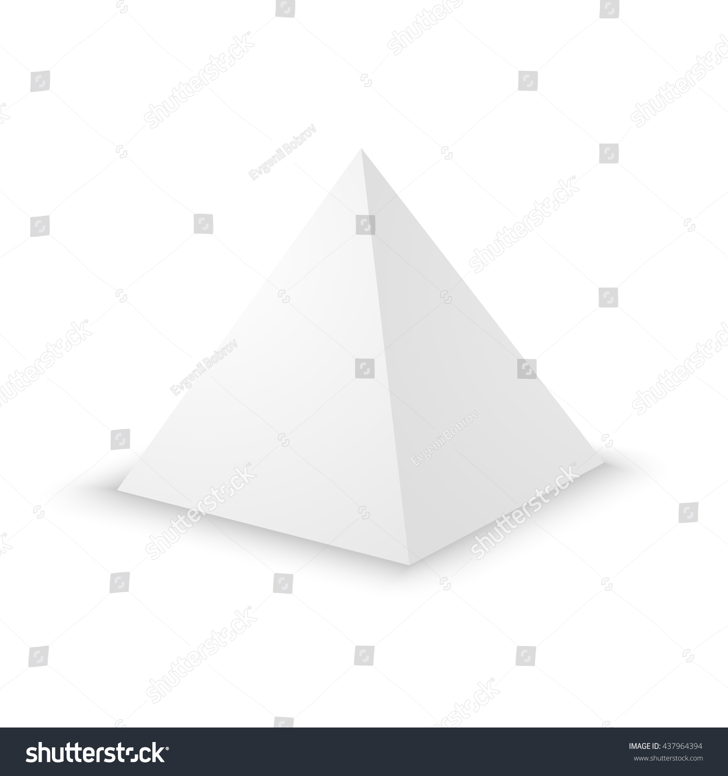 Blank White Pyramid On White Background Stock Vector Royalty Free