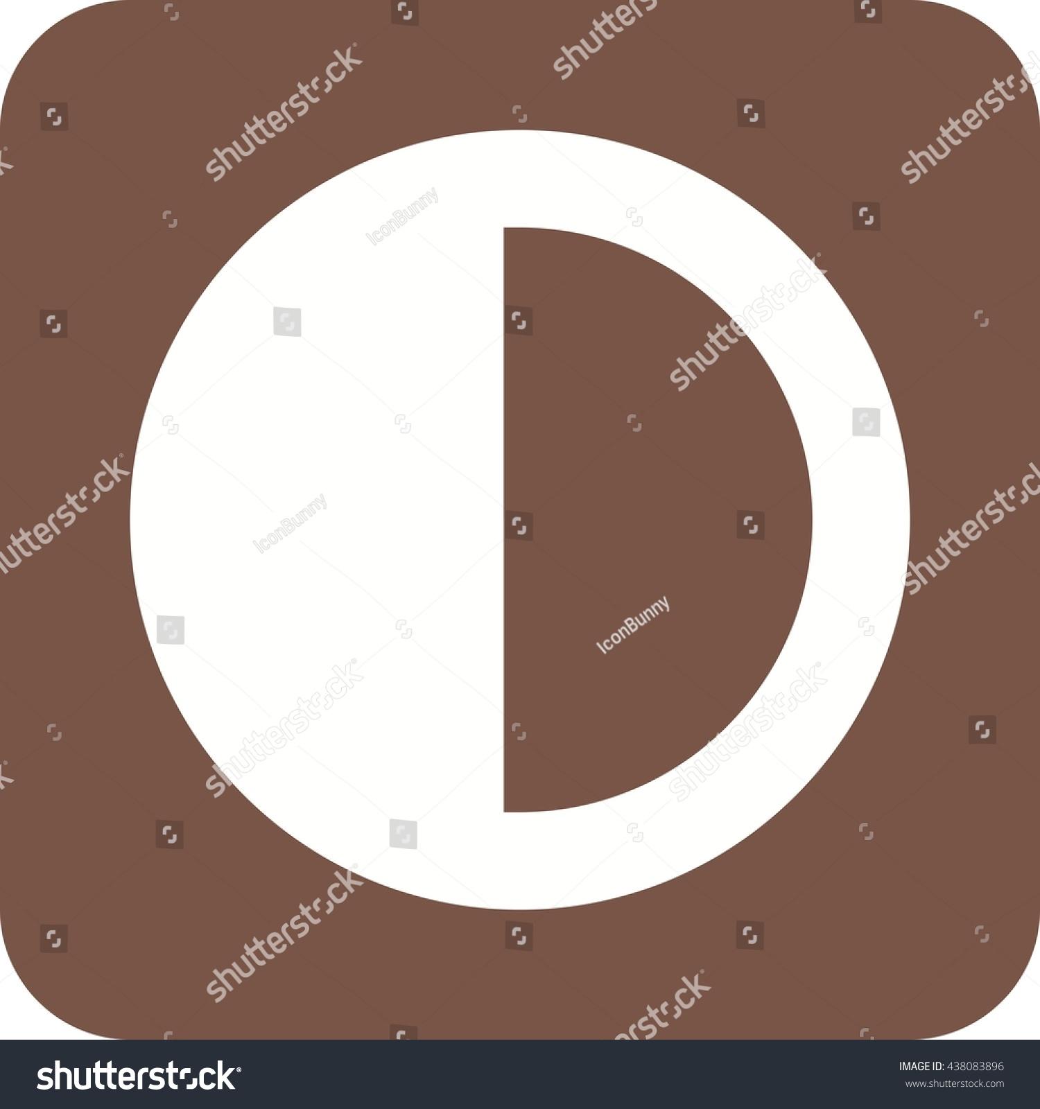 Half Pie Chart Stock Vector Royalty Free 438083896 Shutterstock