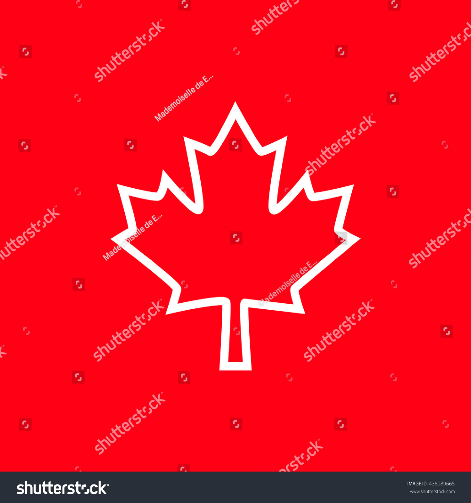 Bright Background Canada Day Vector Illustration Stock Vector