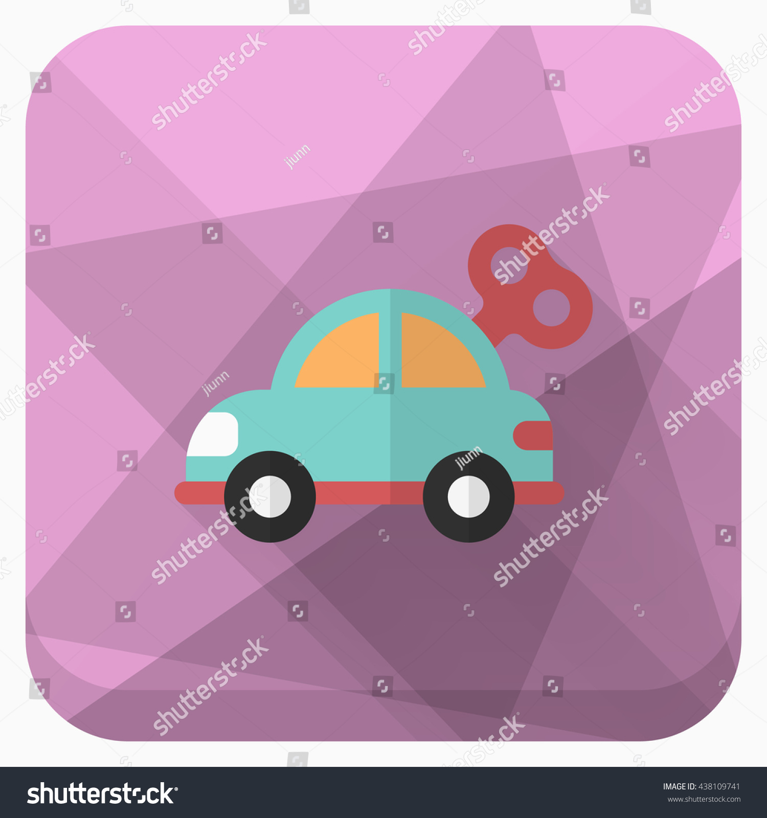 car toy icon vector flat long stock vector 438109741 shutterstock