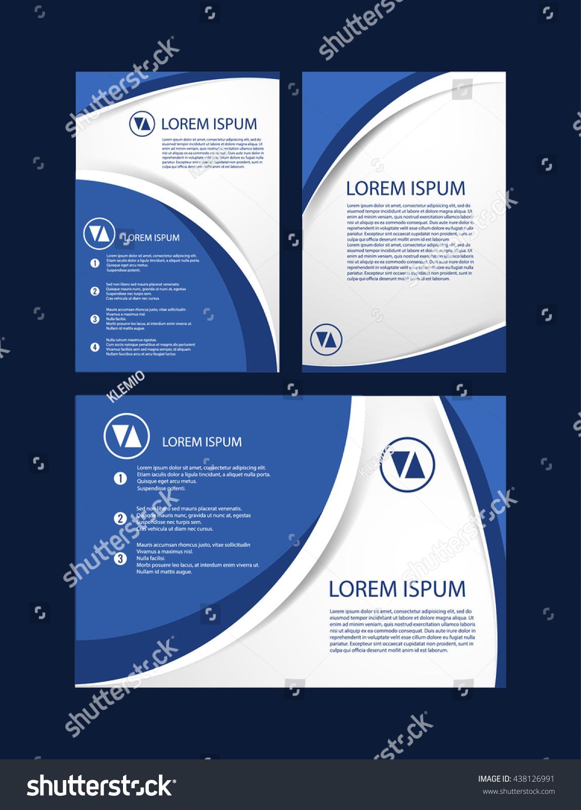 Brochure Template Design Simple Soft Line Stock Vector - Simple brochure template