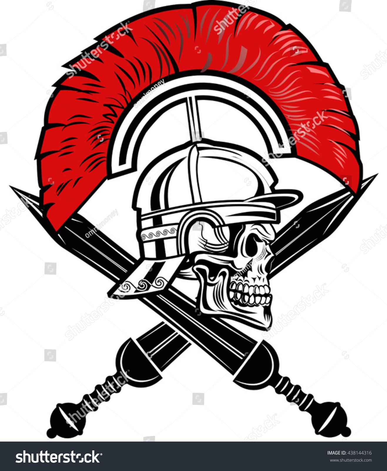 roman helmet short sword stock vector 438144316 shutterstock