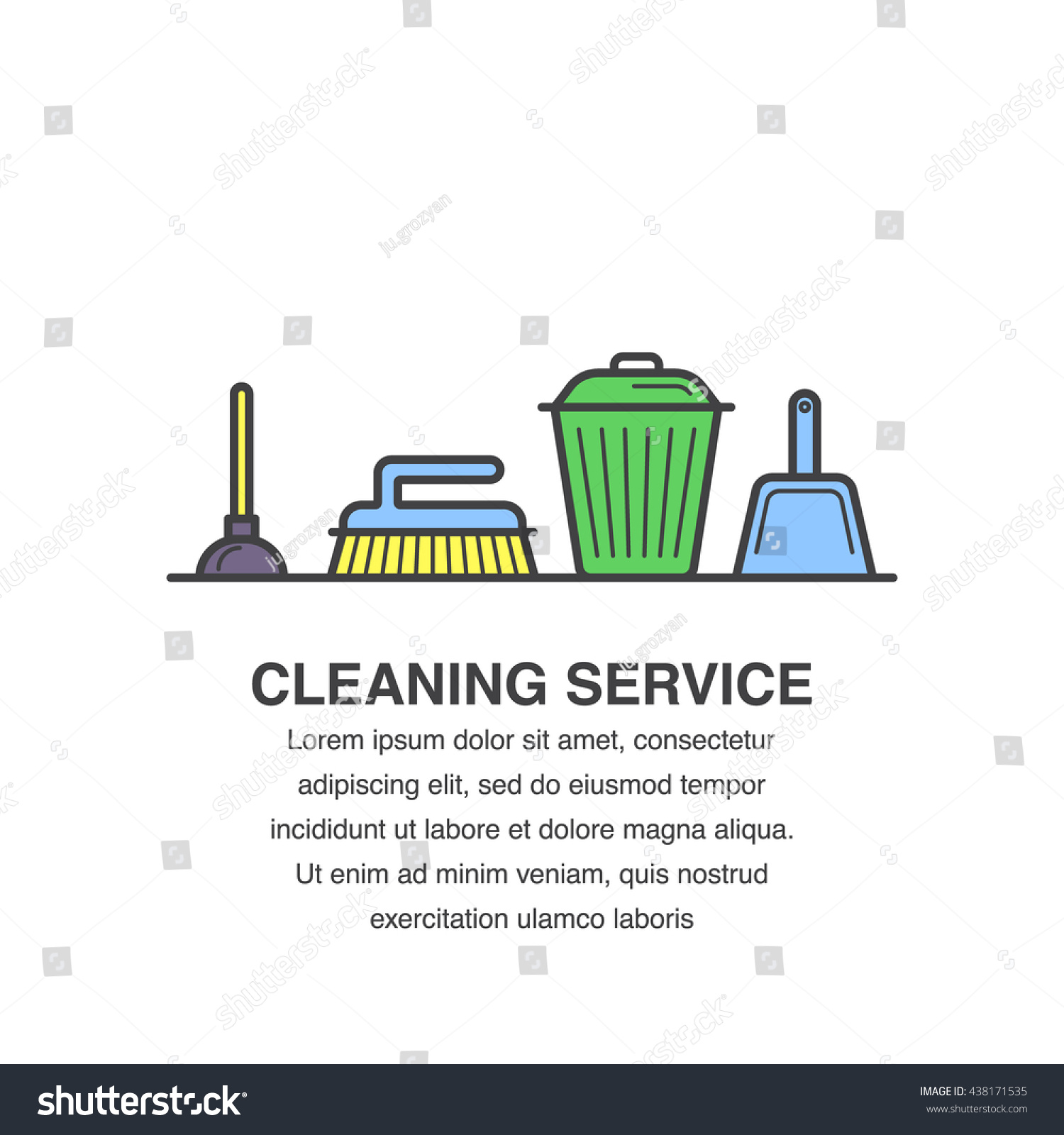 cleaning service banner design for advertisement trash bin save to a lightbox