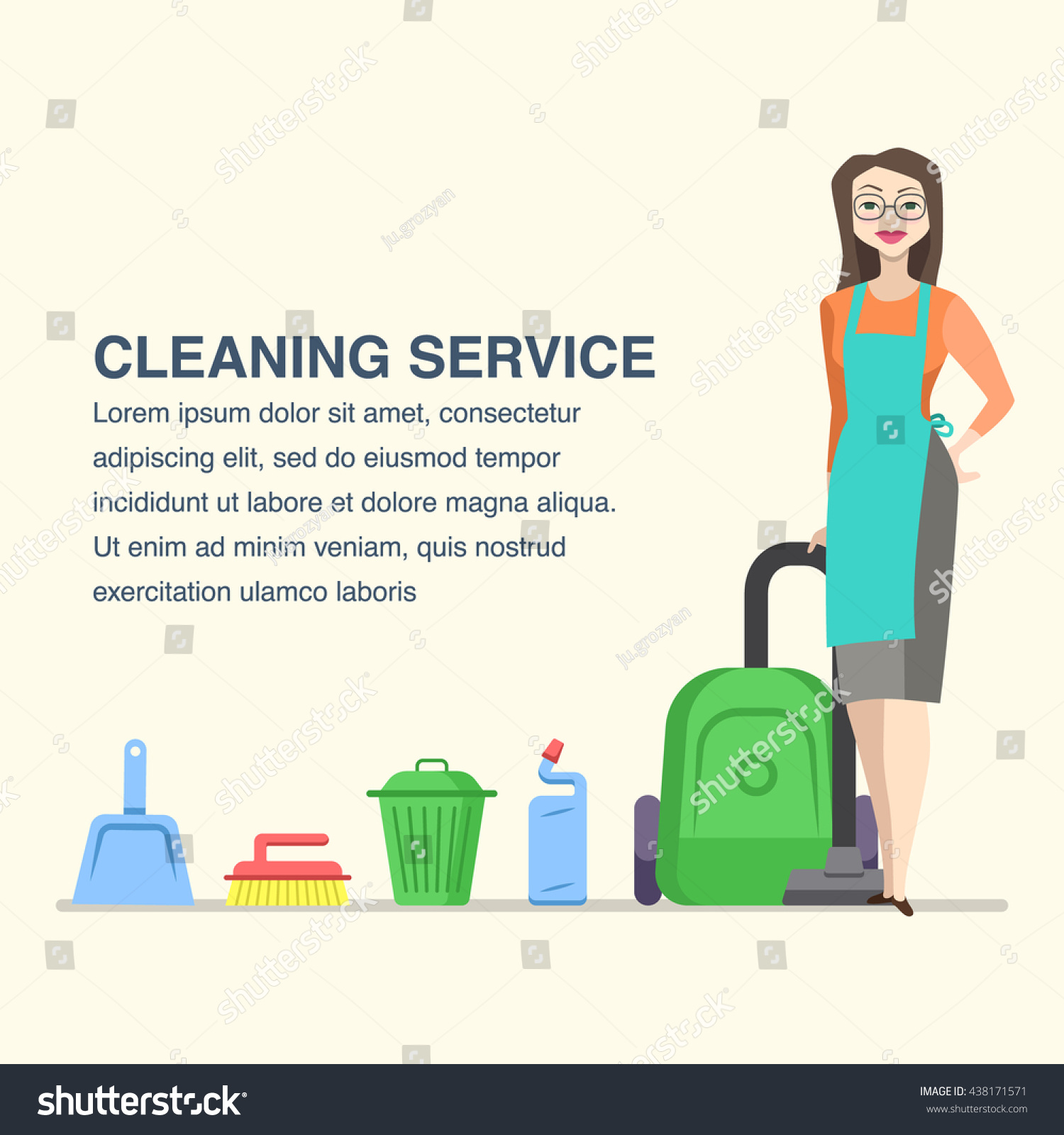 cleaning service banner advertisement cartoon w stock vector cleaning service banner for advertisement cartoon w character and house cleaning tools
