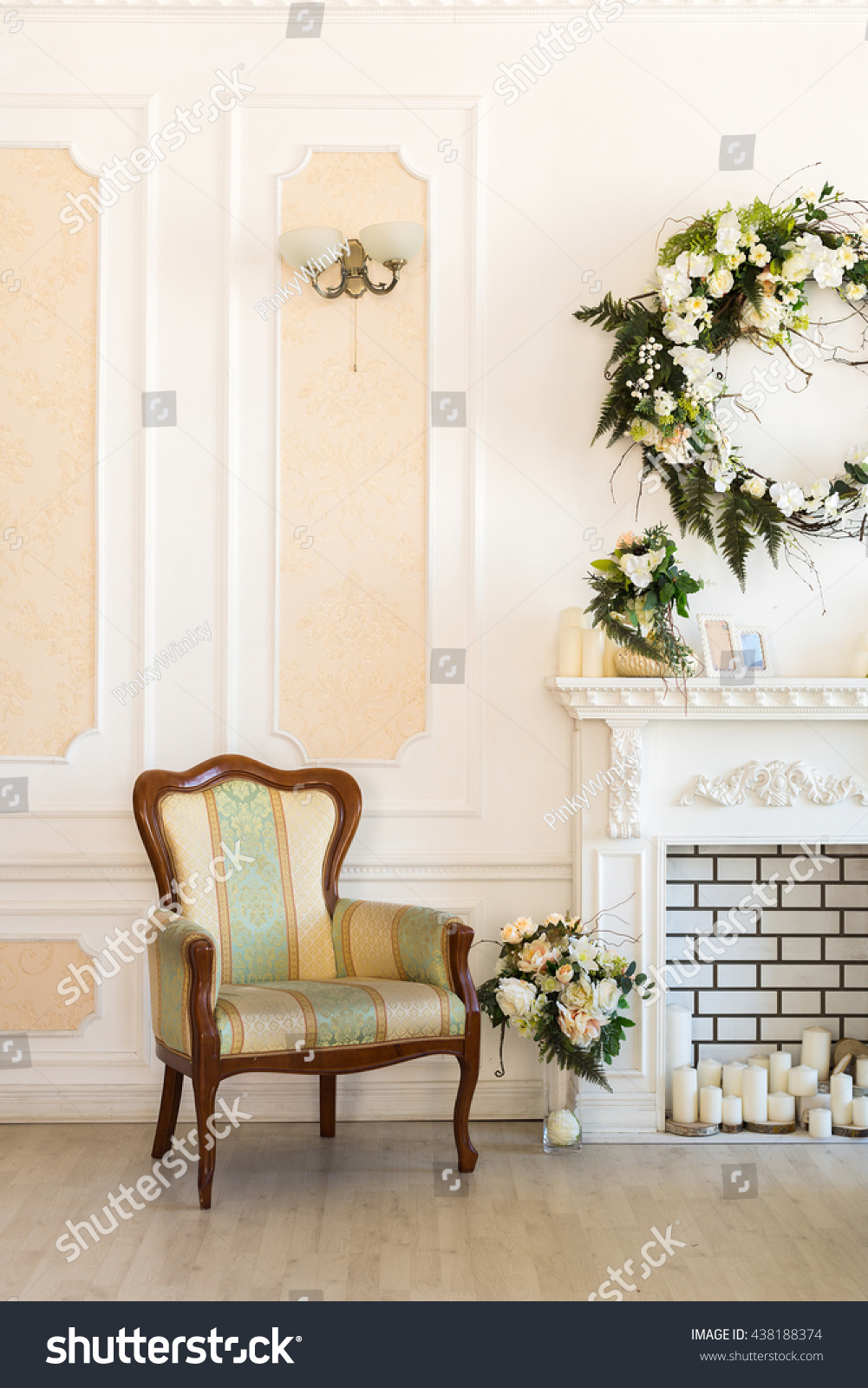 Luxury Stylish Bright Light Interior Sitting Stock Photo 438188374 ...