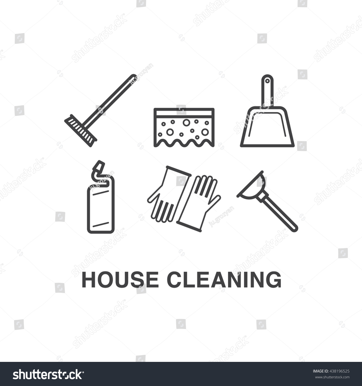 House cleaning icons set mop sponge stock vector 438196525 house cleaning icons set with mop sponge scoop toilet facilities gloves and pooptronica Image collections